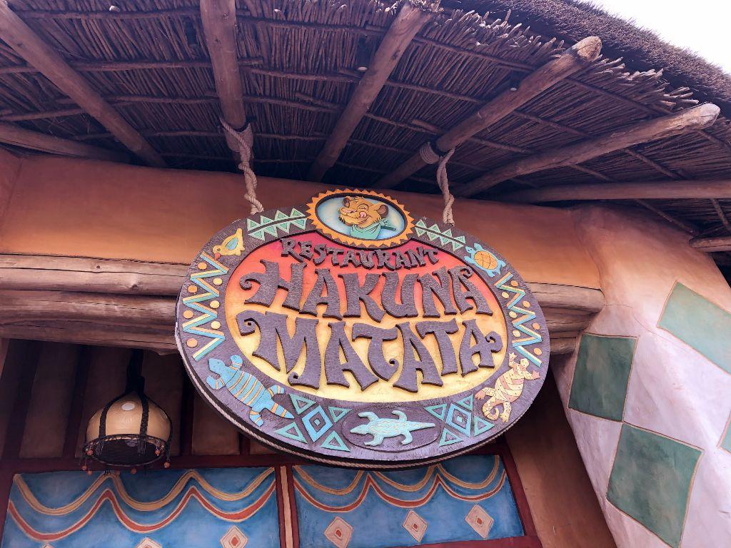 Resto Hakuna Matata adventureland Disneyland