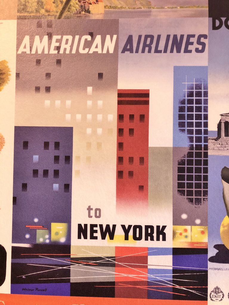 Affiches compagnies aériennes USA
