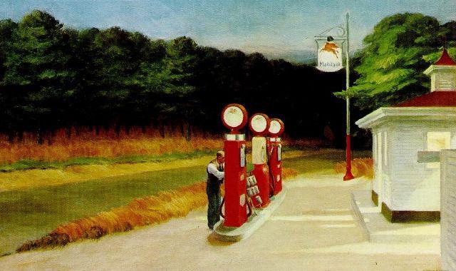 Edward Hopper,   Nighthawk  (1942), Gas '1940), New York Movie  (1939)