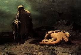 Antigone devant le corps de Polynice  (Nikiforos Lytras, 1865)
