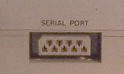 Serial port (on the left side of X-07)