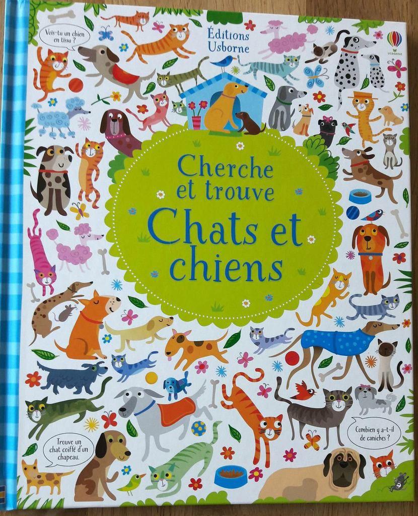 Cherche et trouve  Chats et chiens Usborne