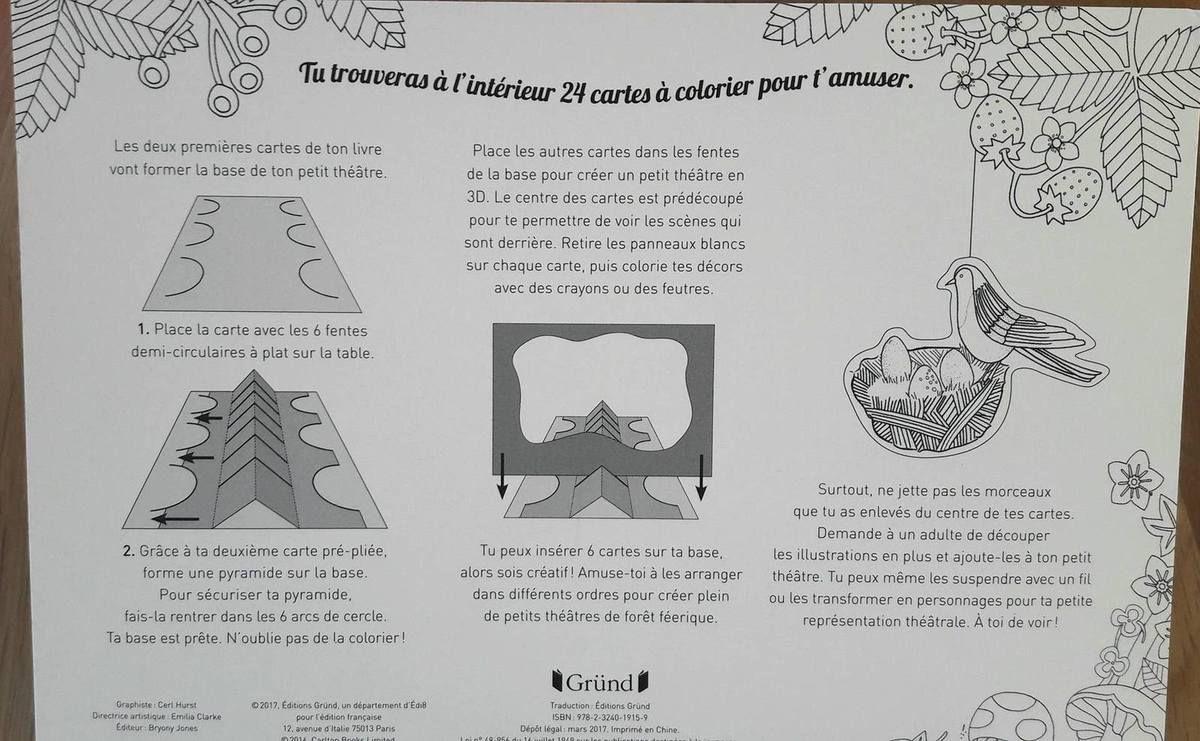 Notice d'utilisation du Petit théâtre à colorier