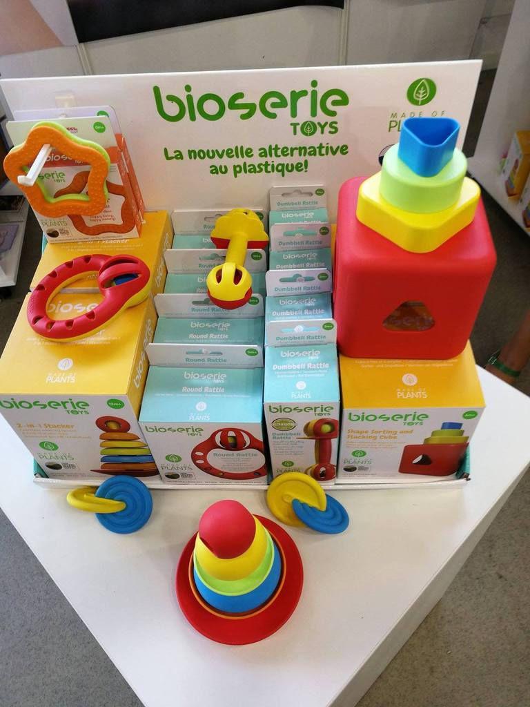 Toute une gamme de jouets : 100% à base de plantes ! Pas de plastique à base de pétrole ! Marque Bioserie
