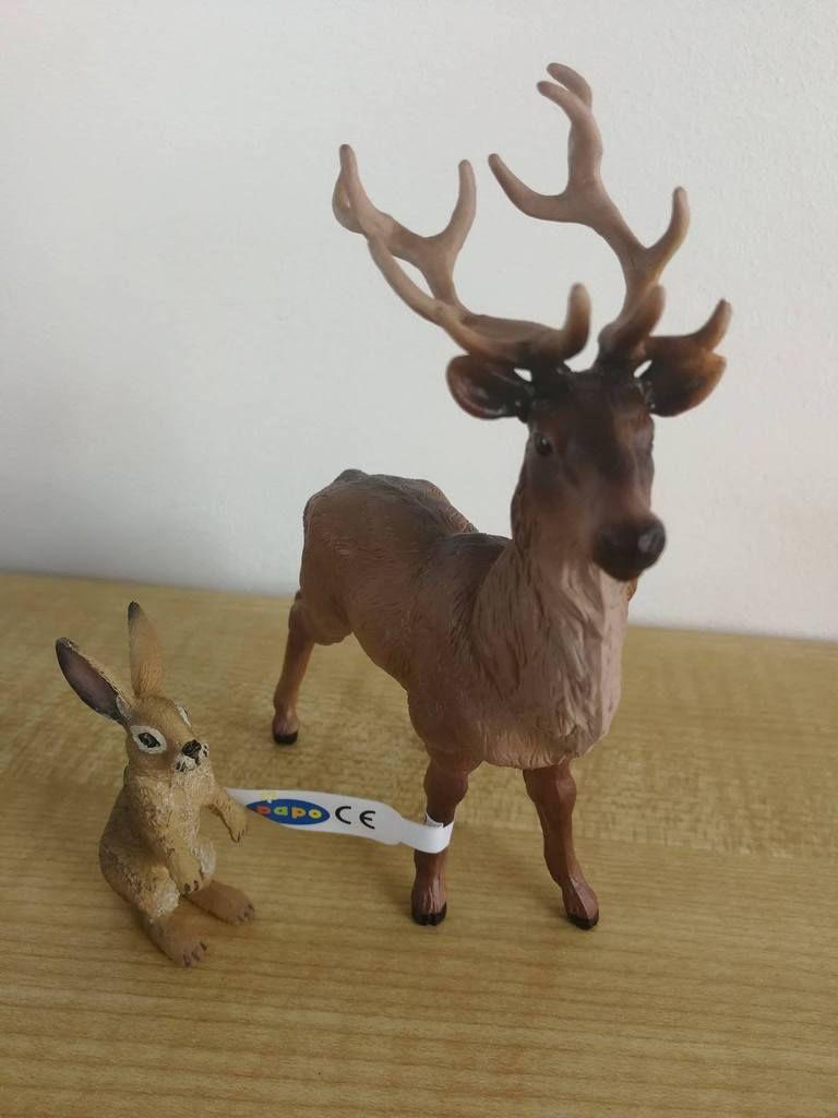 Figurines Lapin et cerf par Papo
