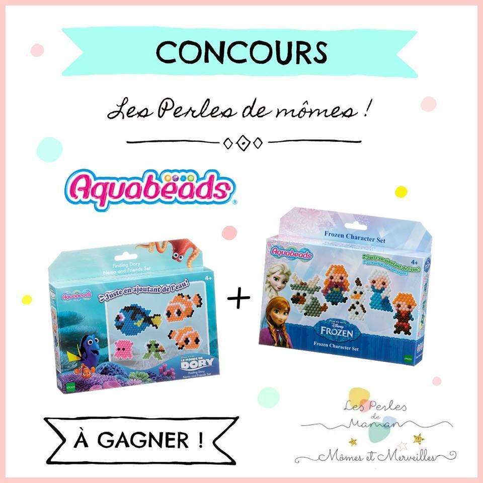 Coffrets Aquabeads Nemo et Reine des Neiges