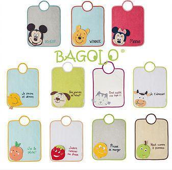 Les différents modèles de Bagolos, des bavoirs rigolos pour accompagner les enfants à l'heure du repas et les aider à devenir autonomes