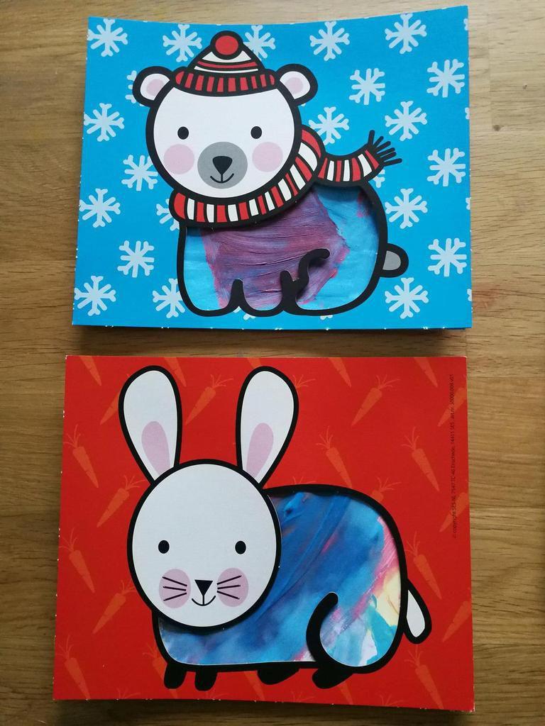Mes premières cartes de peinture au doigt - SES Creative