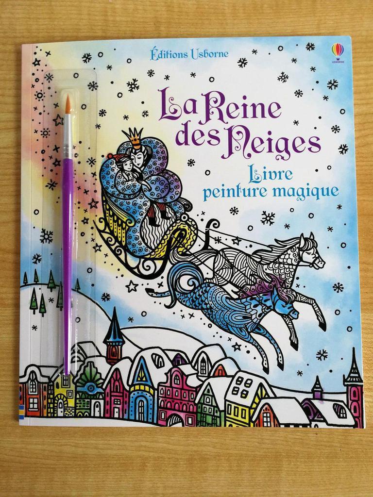 La reine des neiges - Peinture magique - Editions Usborne