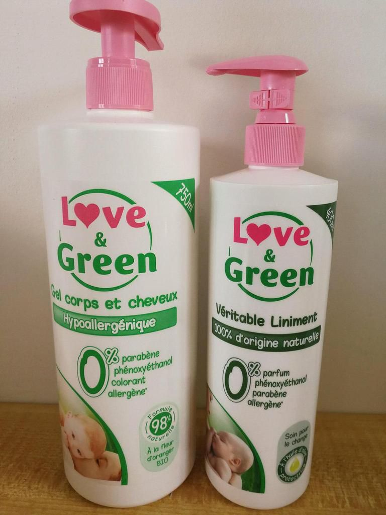 Gel lavant et liniment Love and green