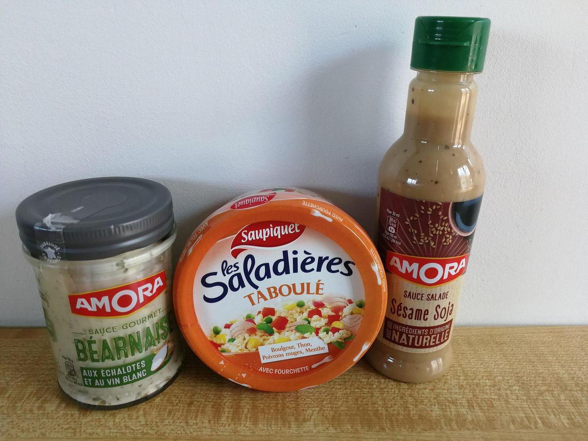 Sauce béarnaise, saladières et sauce salade Amora