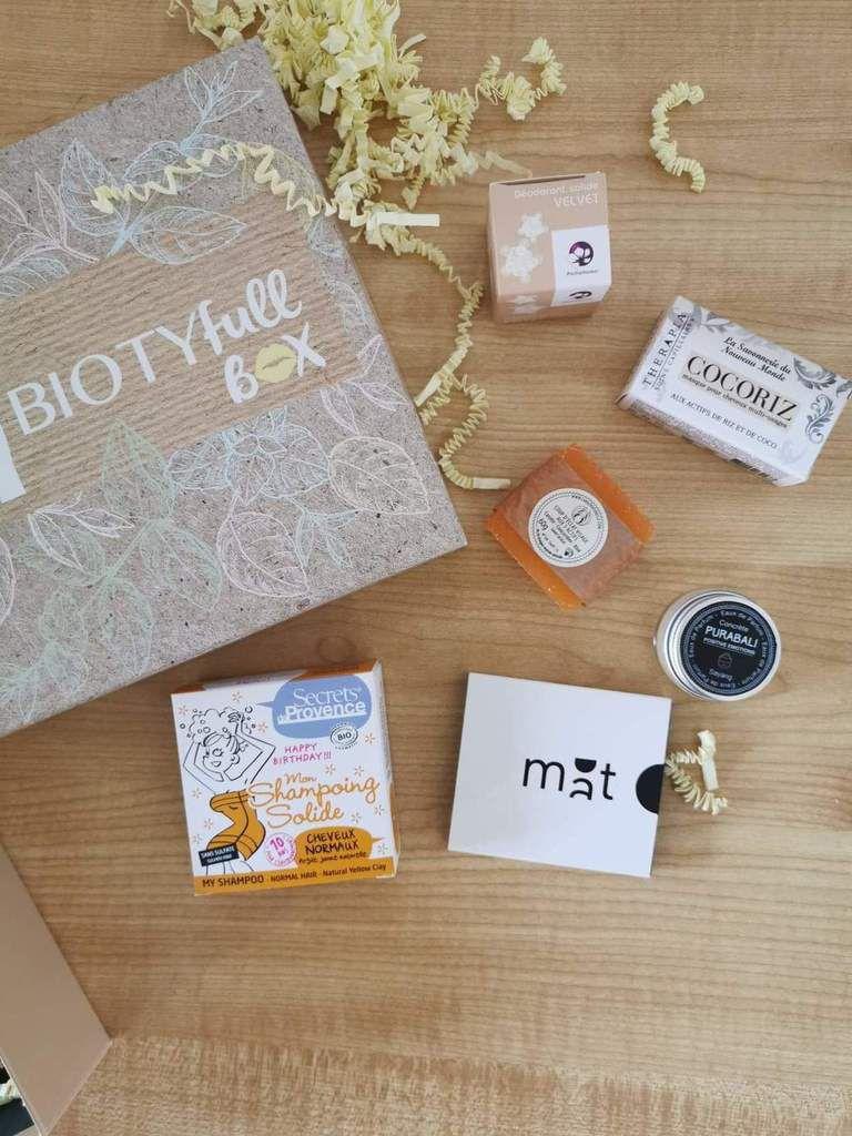 biotyfull box de octobre , cosmétiques zéro déchet