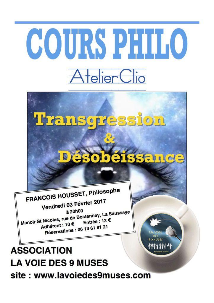 Premier Cours de Philo Atelier Clio 2017