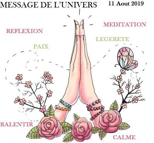 #BilletsMagiques MESSAGE DE L'UNIVERS  11 Aout 2019