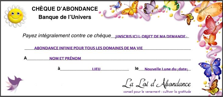 #RituelNouvelleLune  #Chequed'abondance