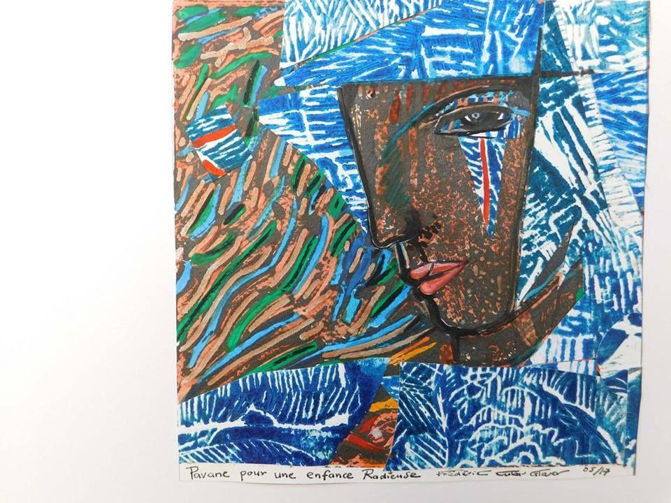 Monotypes préparatoires à une « Pavane pour une enfance radieuse » de Frédéric Cubas-Glaser - mai 2017 -