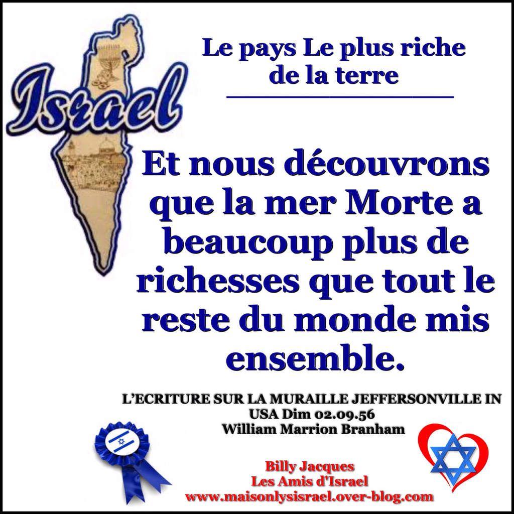 ISRAEL LE PAYS LE PLUS RICHE DE LA TERRE