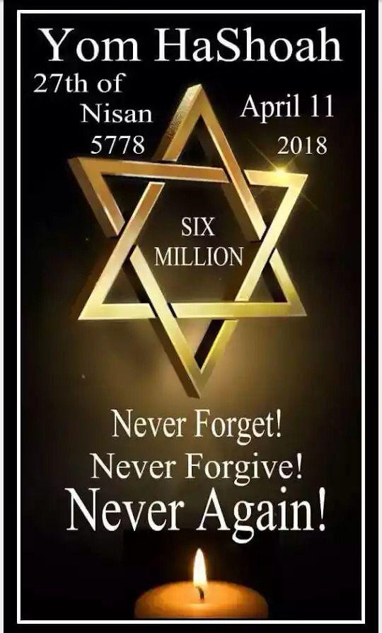 YomHaShoah - 6000000 de juifs _En leur souvenir