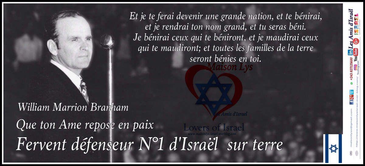 Le Prophète Willam M.Branham aime ISRAEL