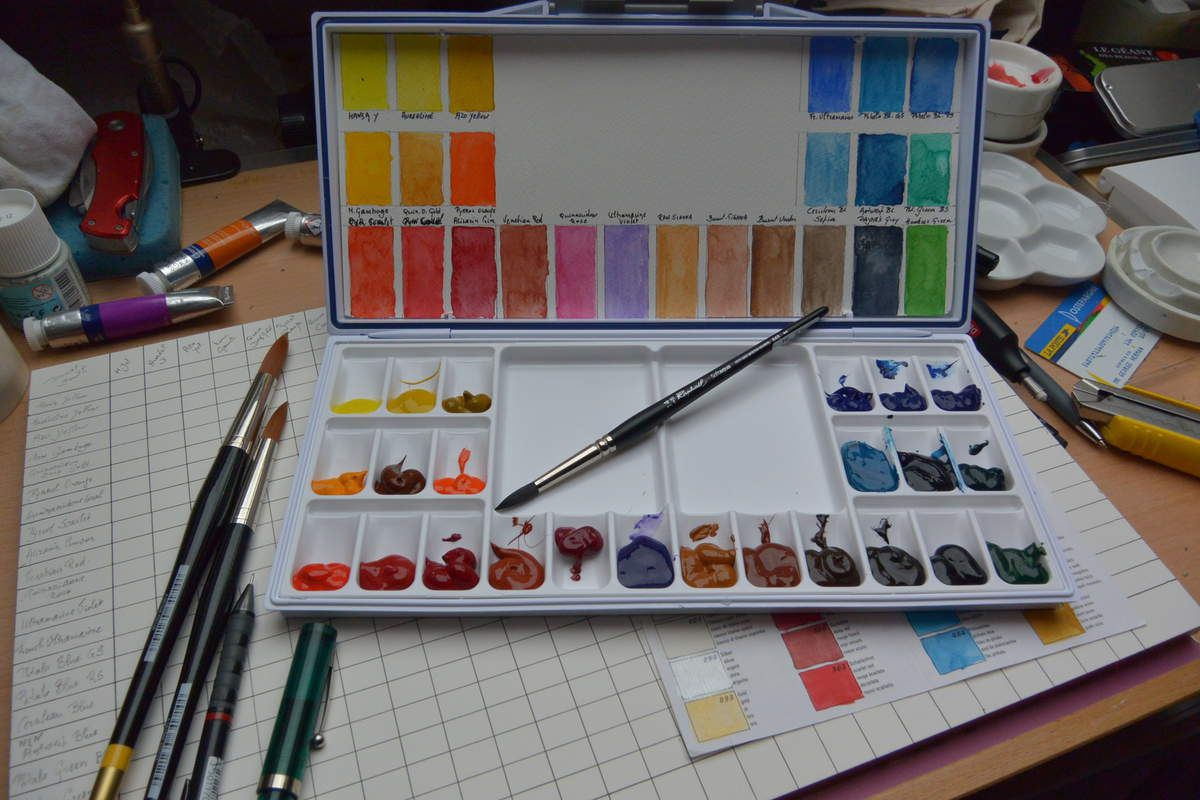 Palette de Base de 24 couleurs 23 Daniel Smith 1 Winsor & Newton