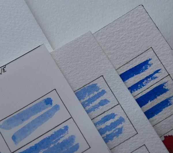 Les 3 différentes surfaces du papier Arches