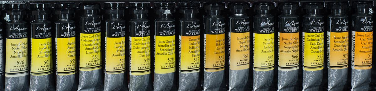 Different Yellow Watercolour Paints by Sennelier L'Aquarelle
