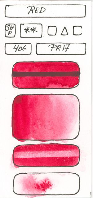 Watercolour Paint made with Red Pigment PR17