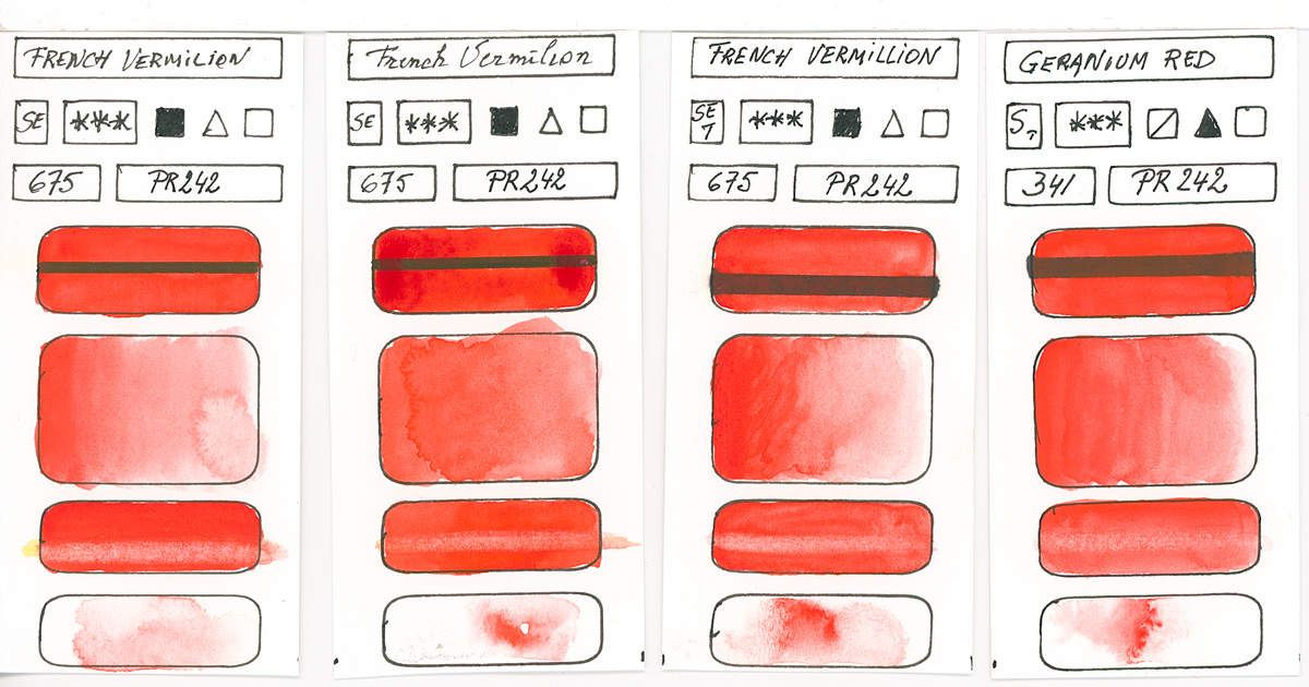 Watercolour Paint made with Red Pigment PR242