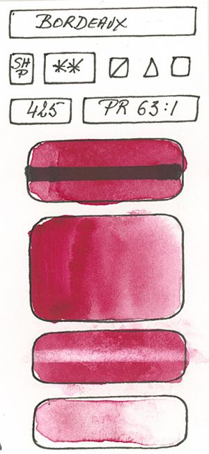 Watercolour Paint made with Red Pigment PR63