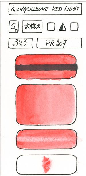 Watercolour Paint made with Red Pigment PR207
