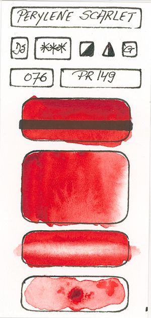 Watercolour Paint made with Red Pigment PR149
