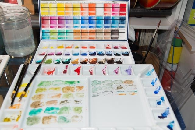 Prepairing Watercolor Swatches and Color Charts