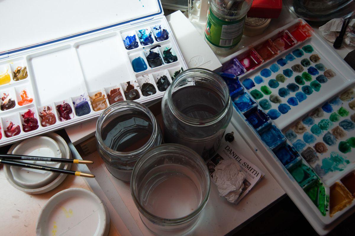 Prepairing to analyse watercolor charts and mixtures