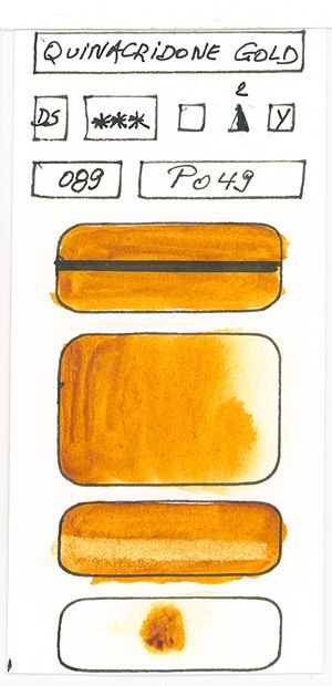Orange Watercolor Paint swatches created with pigment PO49
