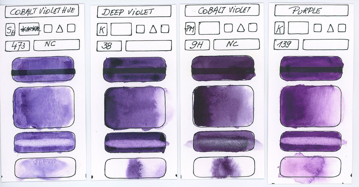Other Violet Watercolor Paints without Pigment information
