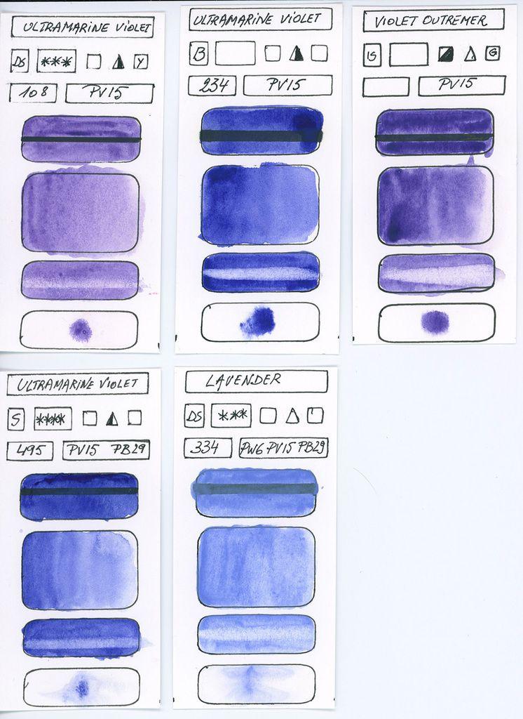 Violets Pigment PV15 différentes marques