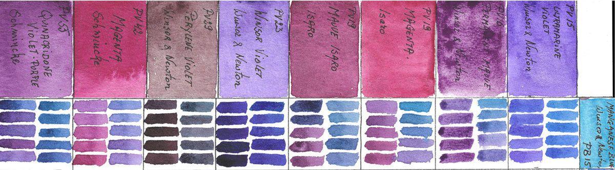 Mixing violets with PB15 Manganese Blue Hue