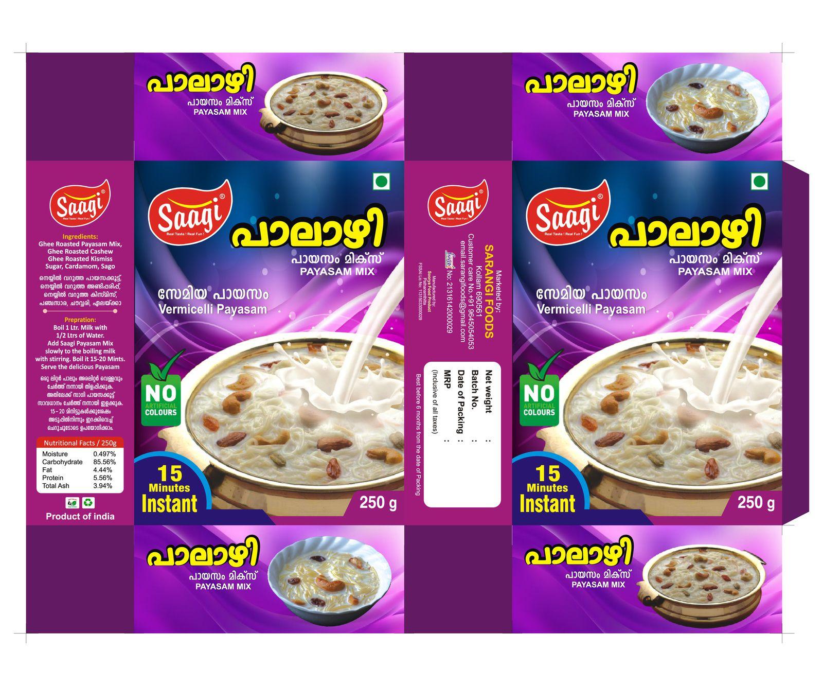 Saagi Payasam Mix_ Packet Deisgn