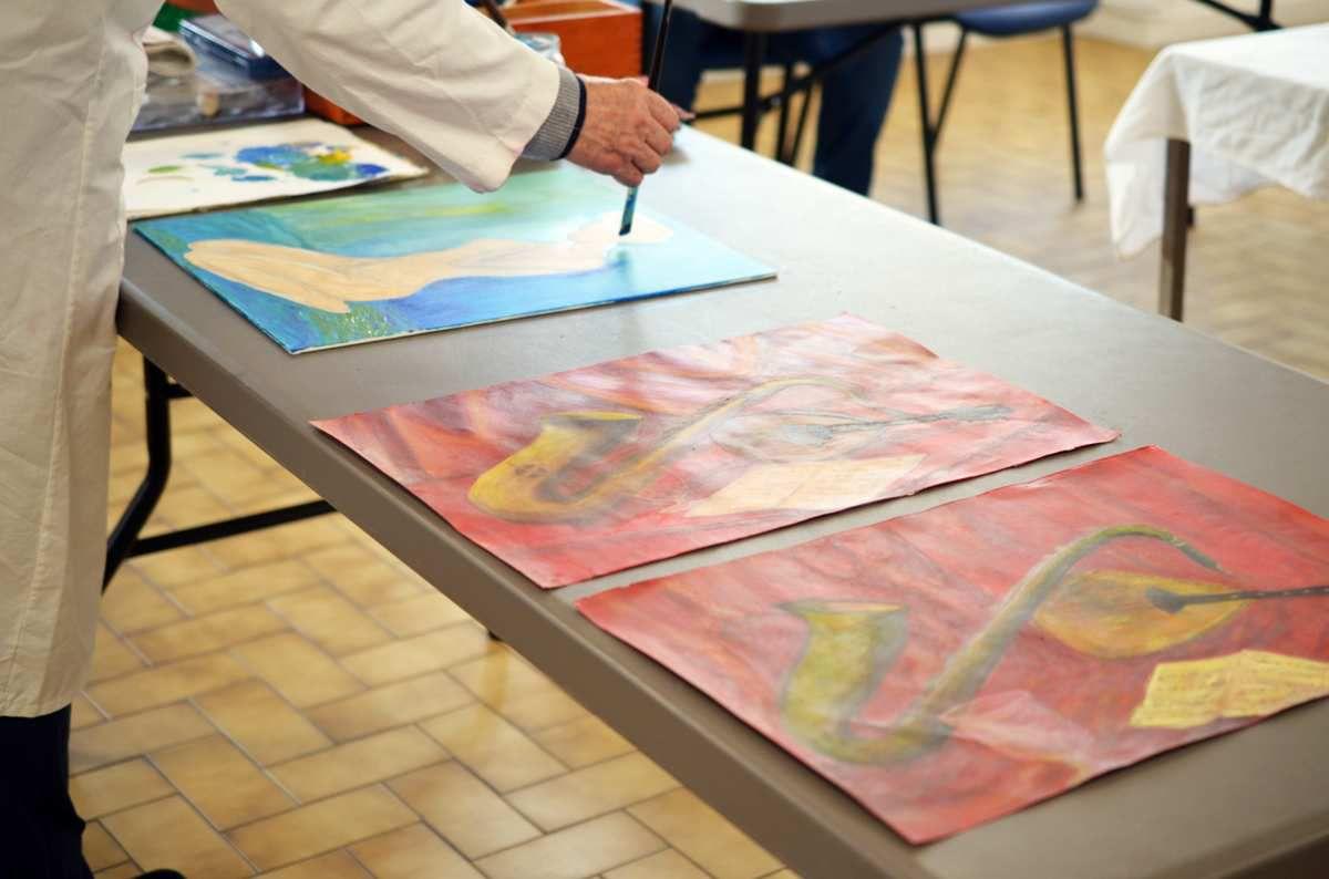 Peintures réalisées lors de séances précédentes