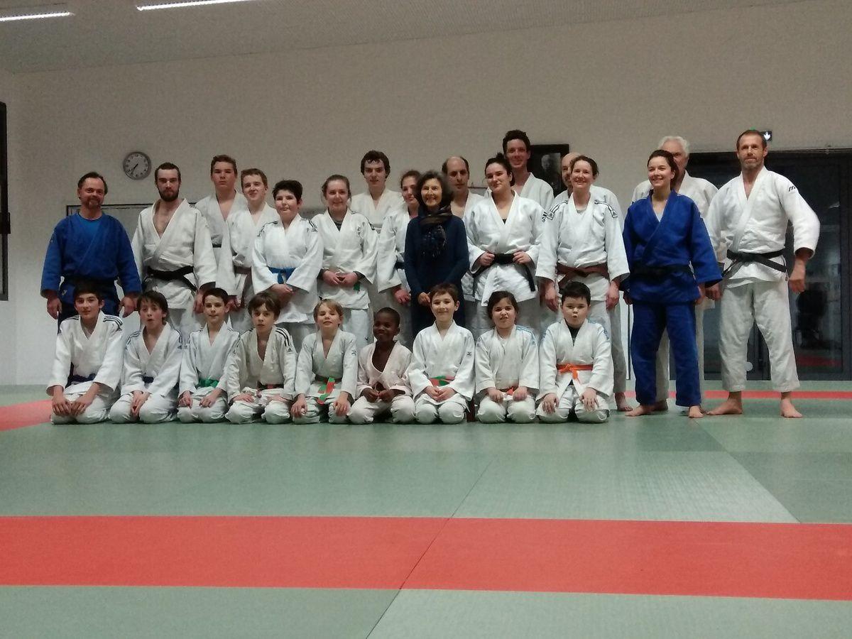 Entrainement de judo à Plouhinec