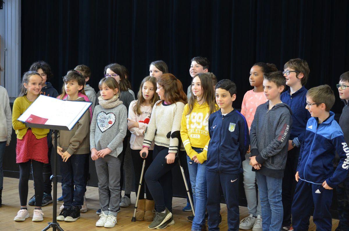 La chorale des enfants de l'école Jules Ferry