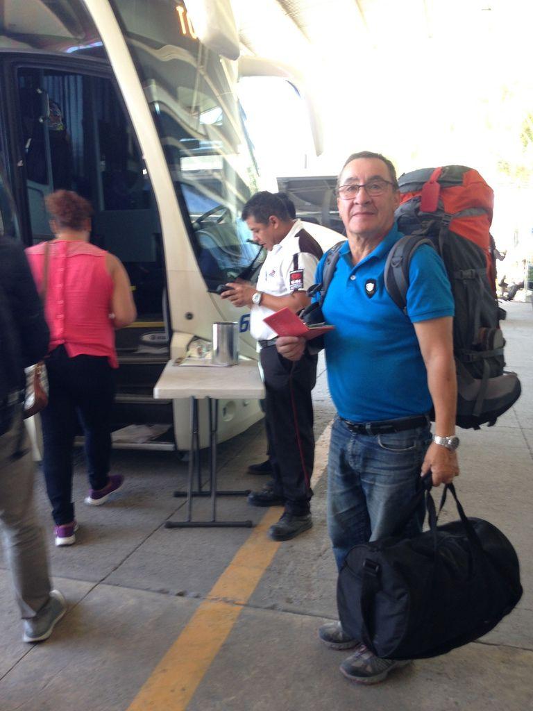 Après 3 h 30 de bus confortable jusqu'au Pacifique.