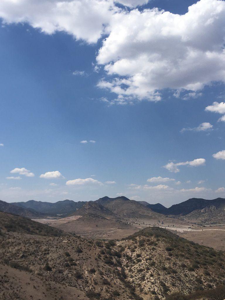Région aride à 2 000 m d'altitude, entre SAN LUIS POTOSI et AGUASCALIENTES, au Nord de GUADALAJARA.