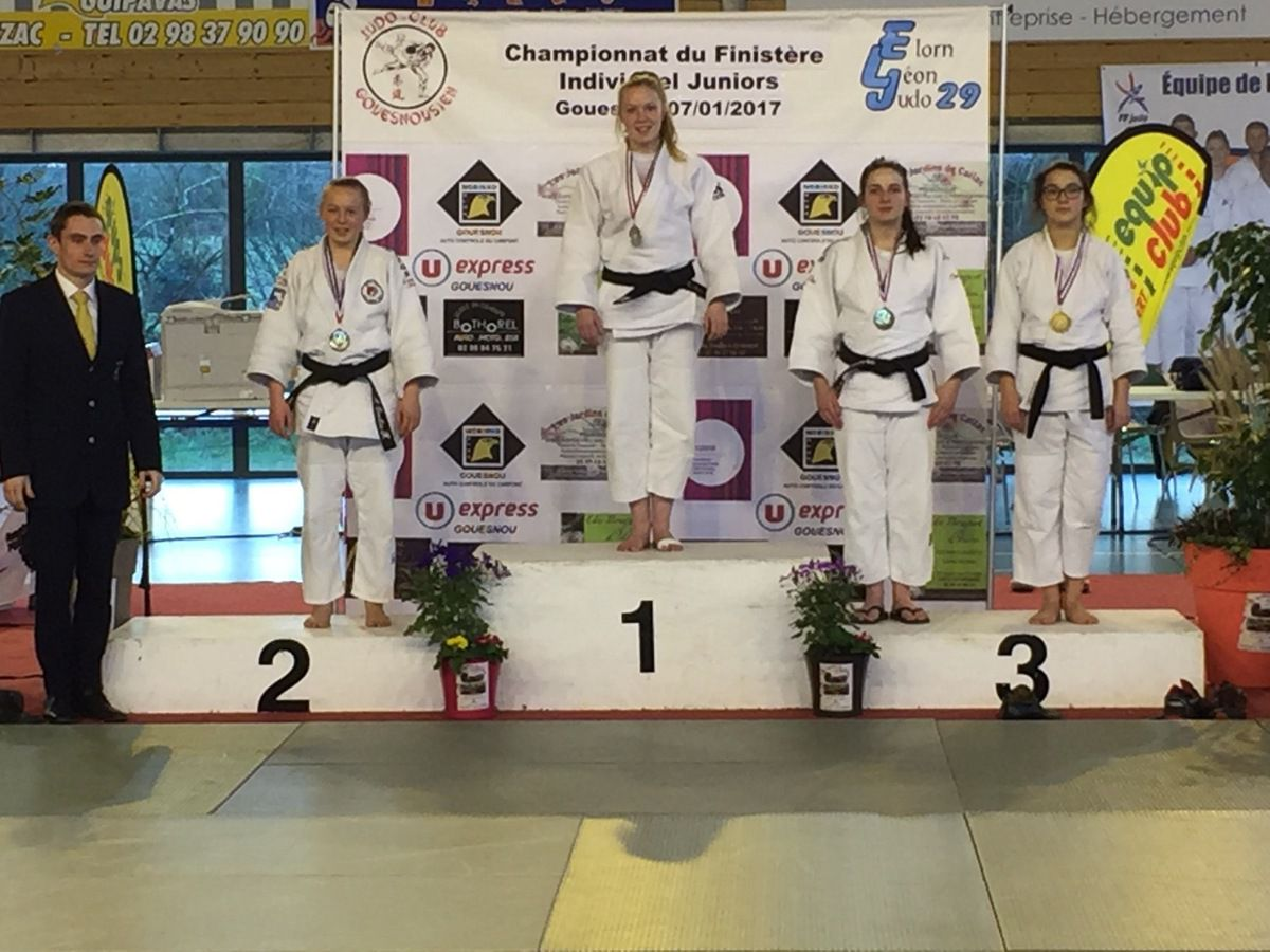 Photos des neuf podiums du club.