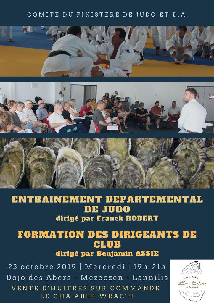 Stage de perfectionnement de Judo et Formation des dirigeants de Club - 23 octobre 2019 - Lannilis