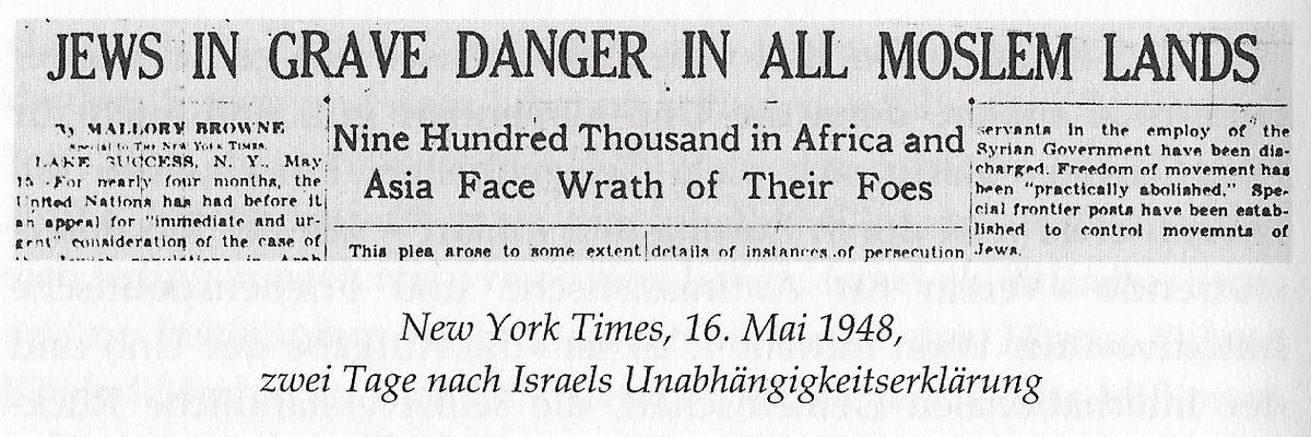 """""""LES JUIFS EN GRAND DANGER DANS TOUS LES PAYS MUSULMANS. Neuf cent mille en Afrique et en Asie font face à la colère de leurs ennemis"""""""