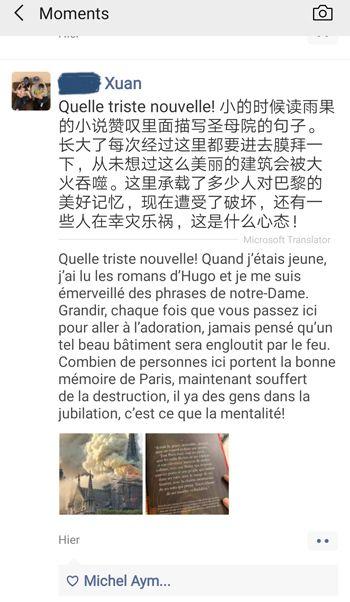 Notre-Dame de Paris, Chinois