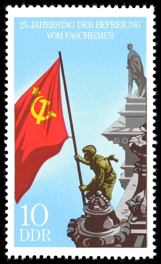 En RDA, à la différence de la RFA, la victoire remportée par l'Armée rouge sur le fascisme était célébrée!