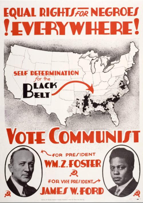 James W. Ford candidat du PCUSA à la vice-présidence en 1932