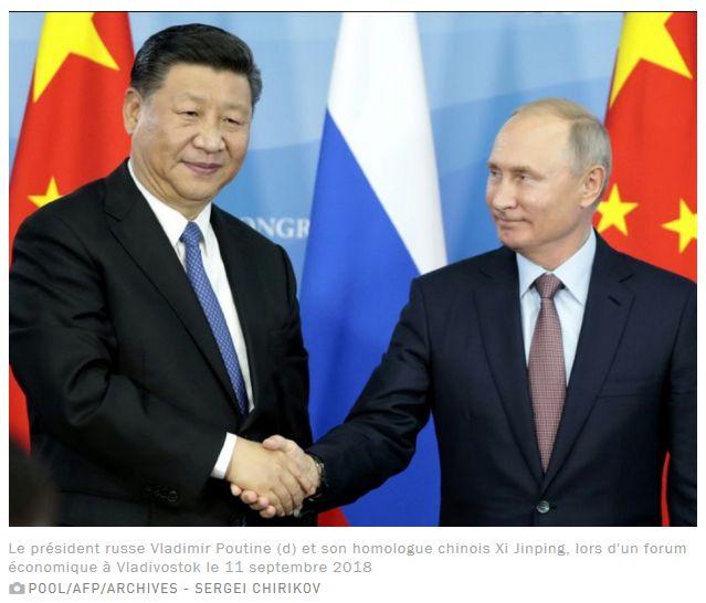 Copie d'écran, source: https://www.challenges.fr/monde/asie-pacifique/poutine-et-xi-une-nouvelle-impulsion-chine-russie_657155